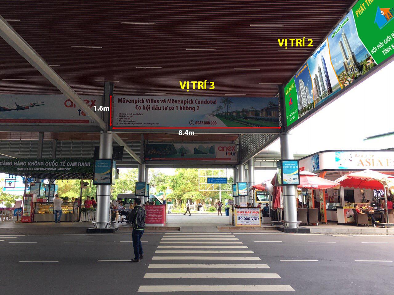 Cho thuê mặt bằng quảng cáo tại Sân Bay Cam Ranh (Nha Trang)