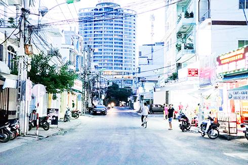 Đường Nguyễn Bỉnh Khiêm đoạn tiếp giáp với đường Trần Phú